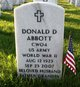 Donald D Abbott