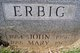 "Mary ""Anna"" <I>Albrecht</I> Erbig"