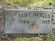 Profile photo:  Alice <I>Kirk</I> Ackles