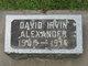 Profile photo:  David Irvin Alexander