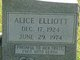 Profile photo:  Alice <I>Elliott</I> Coleman