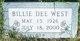 Profile photo:  Billie Dee <I>Cason</I> West