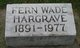 Fern Olga <I>Wade</I> Hargrave