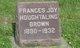 Frances Joy <I>Houghtaling</I> Brown