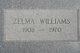 Zelma <I>Street</I> Williams
