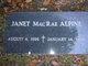 Profile photo:  Janet <I>Mac Rae</I> Alpine