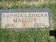 Sophia <I>Lehman</I> Malody