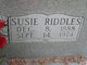 Profile photo:  Susie <I>Riddles</I> Anderson