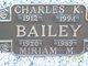 Profile photo:  Miriam M <I>Bardsley</I> Bailey