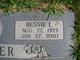 Bessie L <I>Nichols</I> Carter