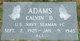 Profile photo:  Calvin D. Adams
