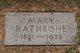 Mary <I>Humphries</I> Rathbone