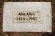 Alta Emma <I>Waite</I> Allee
