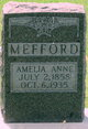 Profile photo:  Amelia Anne Mefford