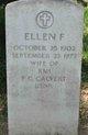 Ellen F <I>McKeown</I> Calvert