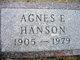 Agnes Frideborg <I>Limnell</I> Hanson