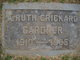 Profile photo:  A Ruth <I>Crickard</I> Gardner