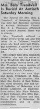 Bela Elizabeth <I>Ledbetter</I> Treadwell