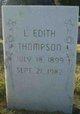 Lettie Edith <I>Wilde</I> Thompson