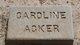 Caroline <I>Vanderburgh</I> Acker