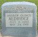 Profile photo:  Andrew Quincy Aldridge