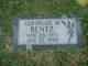 "Gertrude Matilda ""Trudy"" <I>Schafersman</I> Bentz"