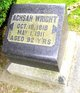 Achsah Fidelia <I>Hurd</I> Wright
