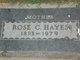 Rose Catherine <I>Werdel</I> Hayes