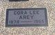Cora Lee <I>Brown</I> Arey