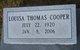 Louisa <I>Thomas</I> Cooper