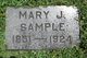 Mary Jane <I>Boyer</I> Sample