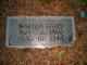 Martha Thomas <I>Speight</I> Davis