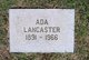Profile photo:  Ada Lancaster