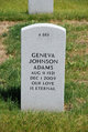 Profile photo:  Geneva <I>Johnson</I> Adams
