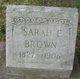 Profile photo:  Sarah Brown