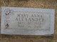 Mary Anna Alexander
