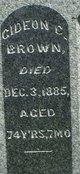 Gideon C Brown