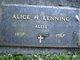 "Profile photo:  Alice Gertrude Helene ""Allie"" <I>Flockenhagen</I> Lenning"