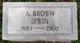 Profile photo:  A. Brown Irwin