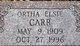 Ortha Elsie Carr
