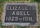 "Profile photo:  Elizabeth ""Libbie"" <I>Livingston</I> Abell"