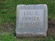 """Louise Claire """"Lou"""" <I>Williams</I> Fowler"""