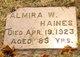 Almira W Haines