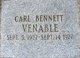 Profile photo:  Carl Bennett Venable