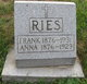 Profile photo:  Anna <I>Pope</I> Ries