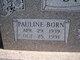 Profile photo:  Pauline <I>Born</I> Stidham