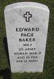 Profile photo: Maj Edward Page Baker