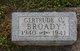 Gertrude Olivine Broady