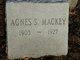 Profile photo:  Agnes <I>Sanderson</I> Mackey
