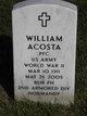 Profile photo: PFC William Acosta